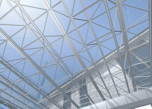 無色透明のガラスのような屋根材が一部商品であります。