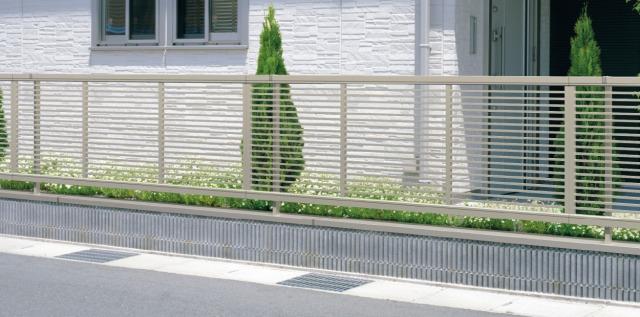 形材フェンス エクモアX アーバングレー/2008/フェンス併用ブロック笠木