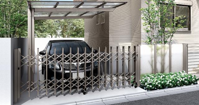 まずは、入り口からゲートでしっかり侵入対策