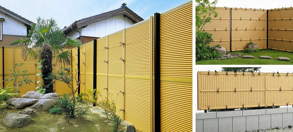 箱庭をつくるには最適の竹垣フェンス