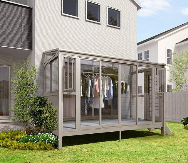 満足度TOP1全天候型洗濯物干しスペース「テラス囲い」