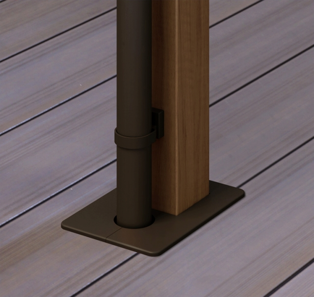 ウッドデッキの屋根の柱はデッキに埋め込まない方が良い