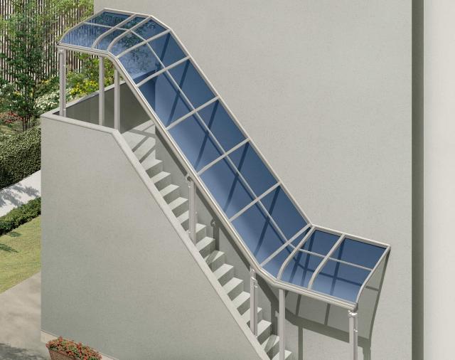 ソラリア シリーズ共通仕様 特殊納まり対応 階段屋根