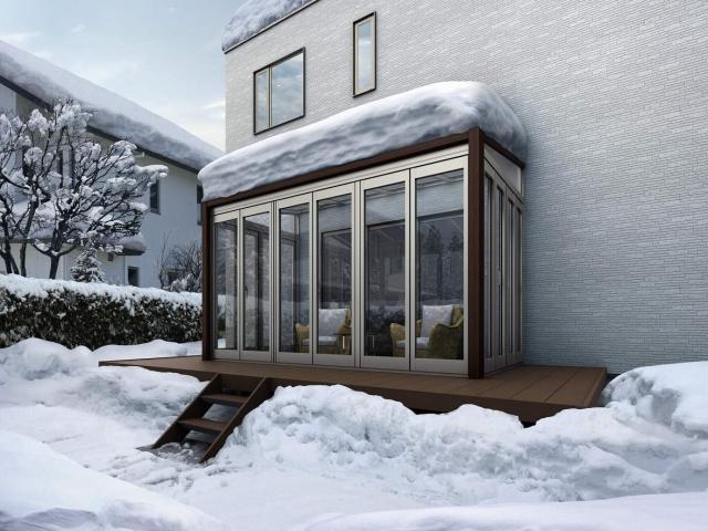 どうしても設置する場合は、積雪100cm仕様を選ぶ
