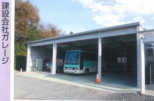 「建設会社ガレージ」としてのイナバ倉庫の実例