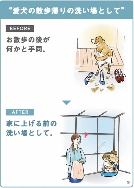 スピーネストックヤード:愛犬の散歩帰りの洗い場として