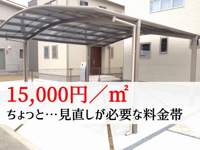【平米料金1.5万円】ちょっと高いので見直しが必要な料金帯