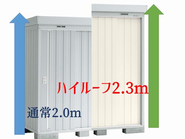 専有敷地面積はまったく同じ、背の高い物置は収納量も高い