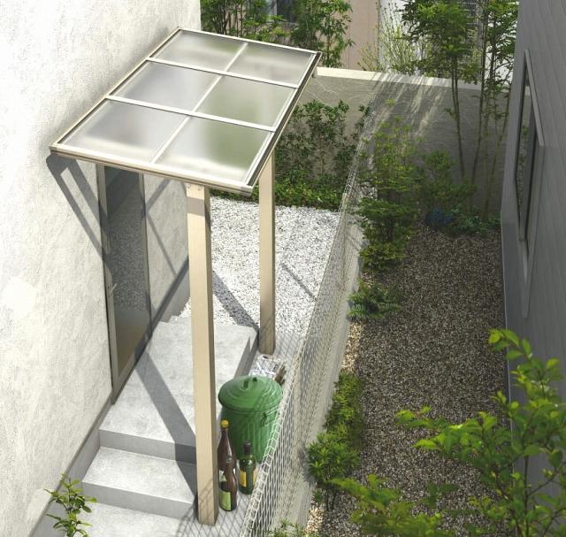 日当たりを考慮すれば、テラスは設置しないか最も明るい屋根材で