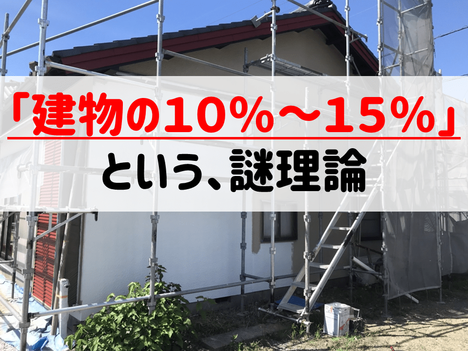 外構工事は「建物の10%〜15%」という謎理論