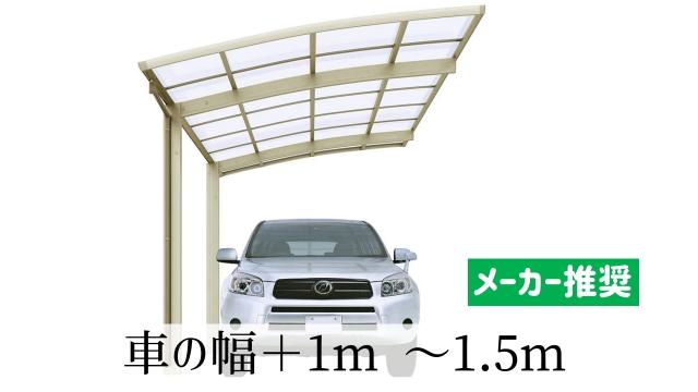 メーカーのセオリーは車の幅プラス1m~1.5m