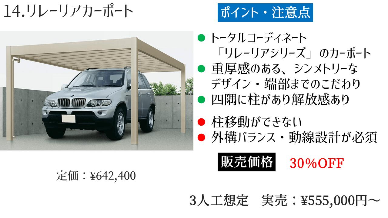 YKKAP カーポート 「14.リレーリアカーポート」の評判・レビュー