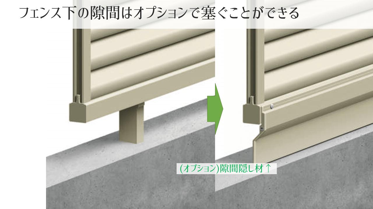フェンスの隙間の対策