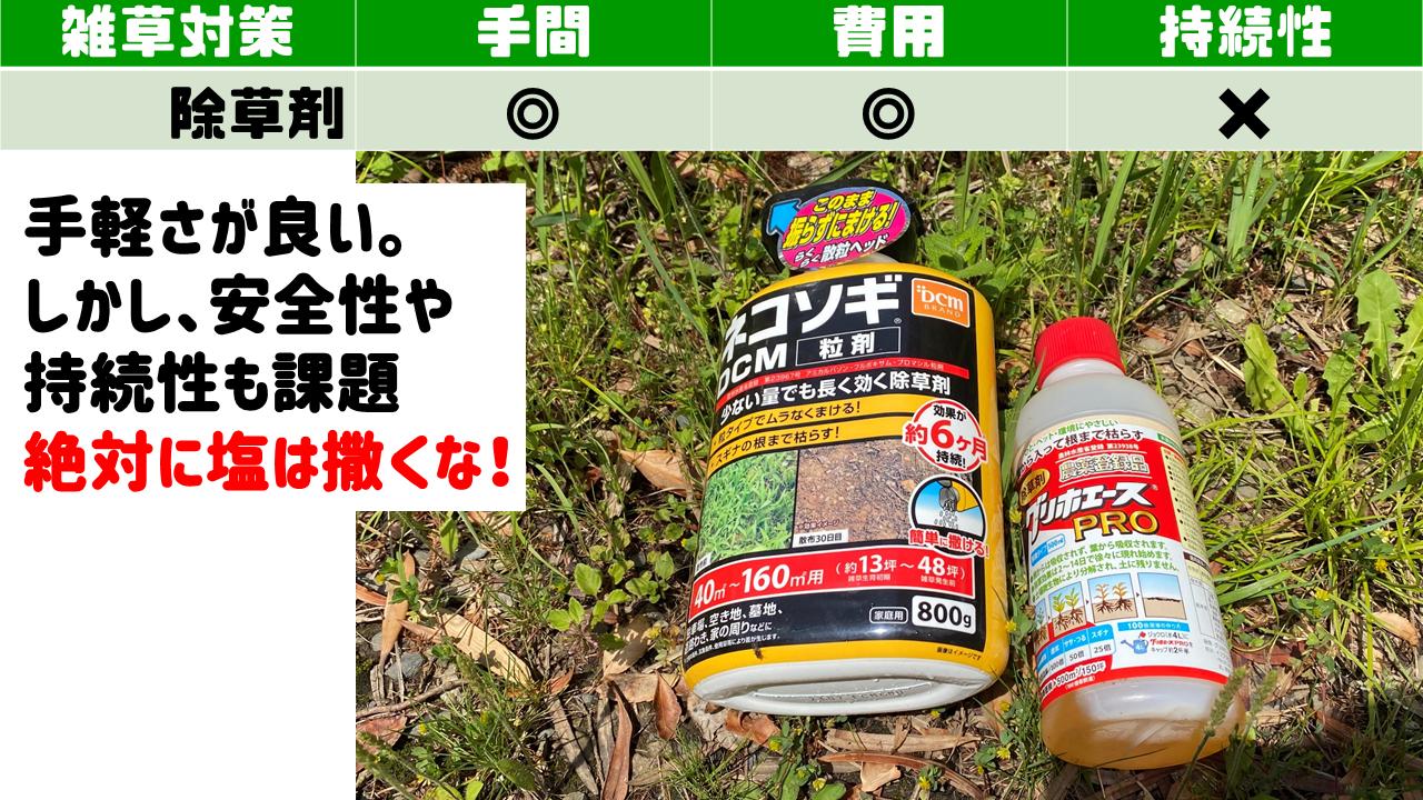 除草剤で雑草対策