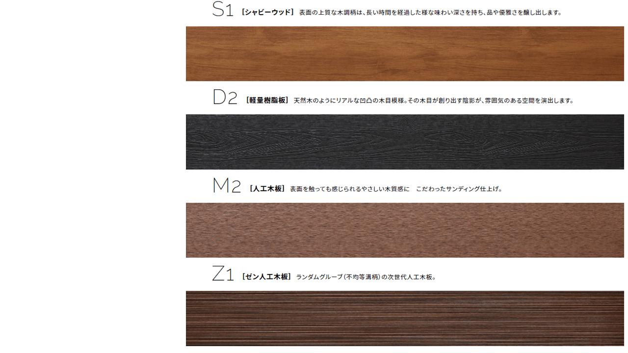 樹脂製フェンス・シャビ―ウッドの種類