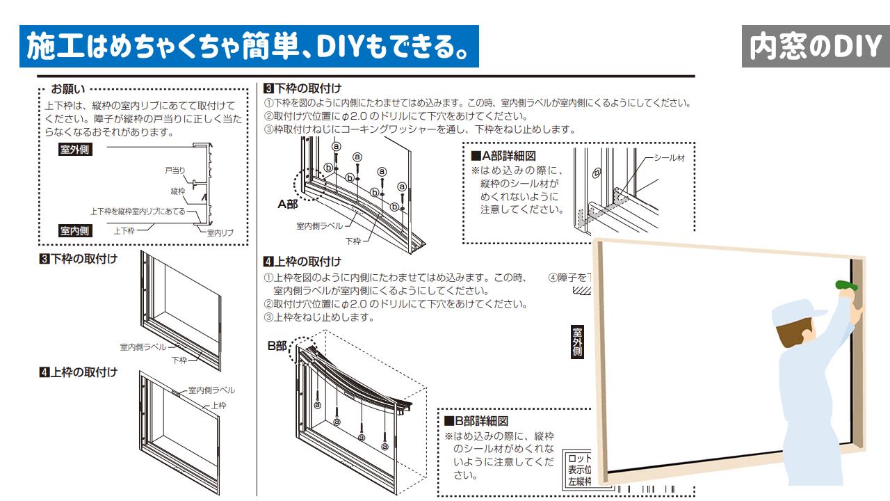 内窓のDIY