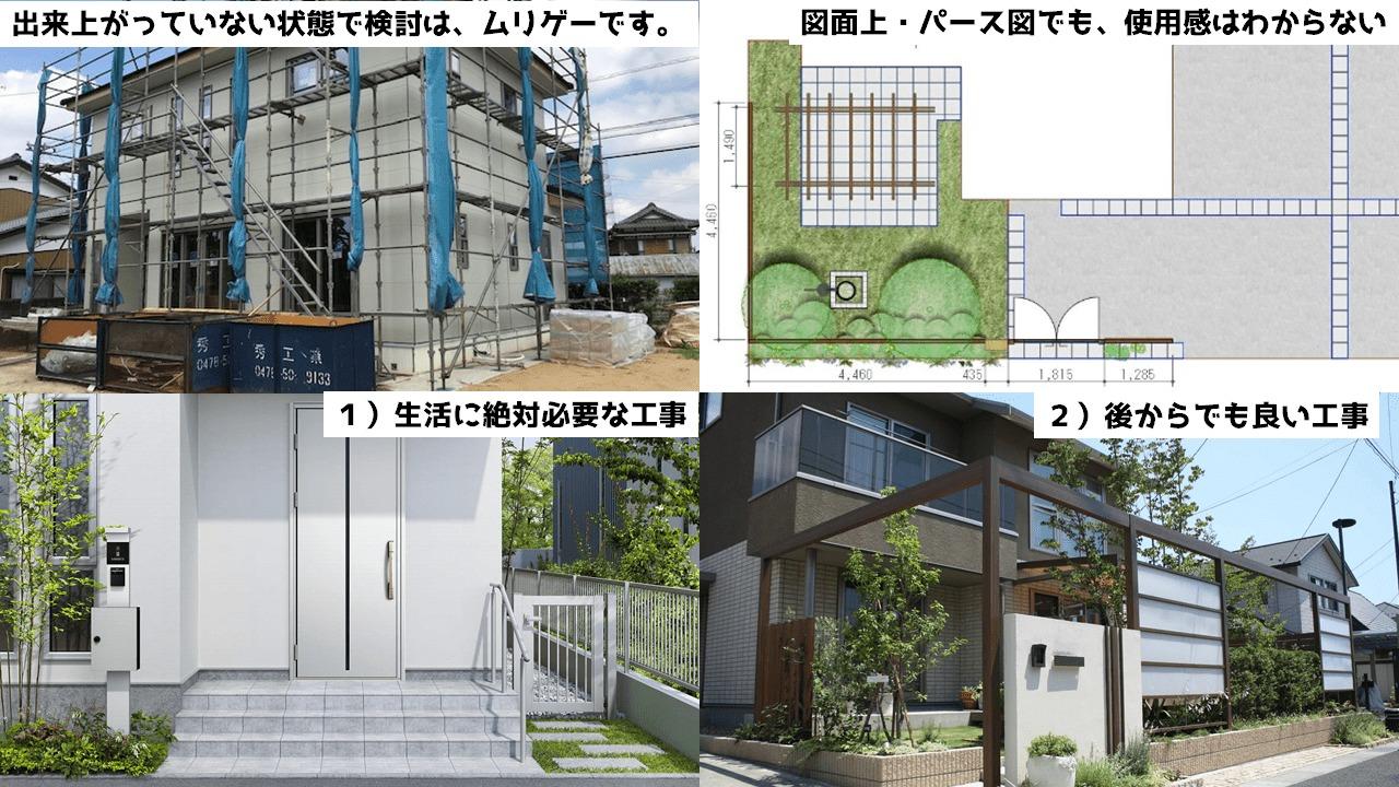新築外構で金銭感覚を狂わせない3つの対応策3:プランをしっかりと考える