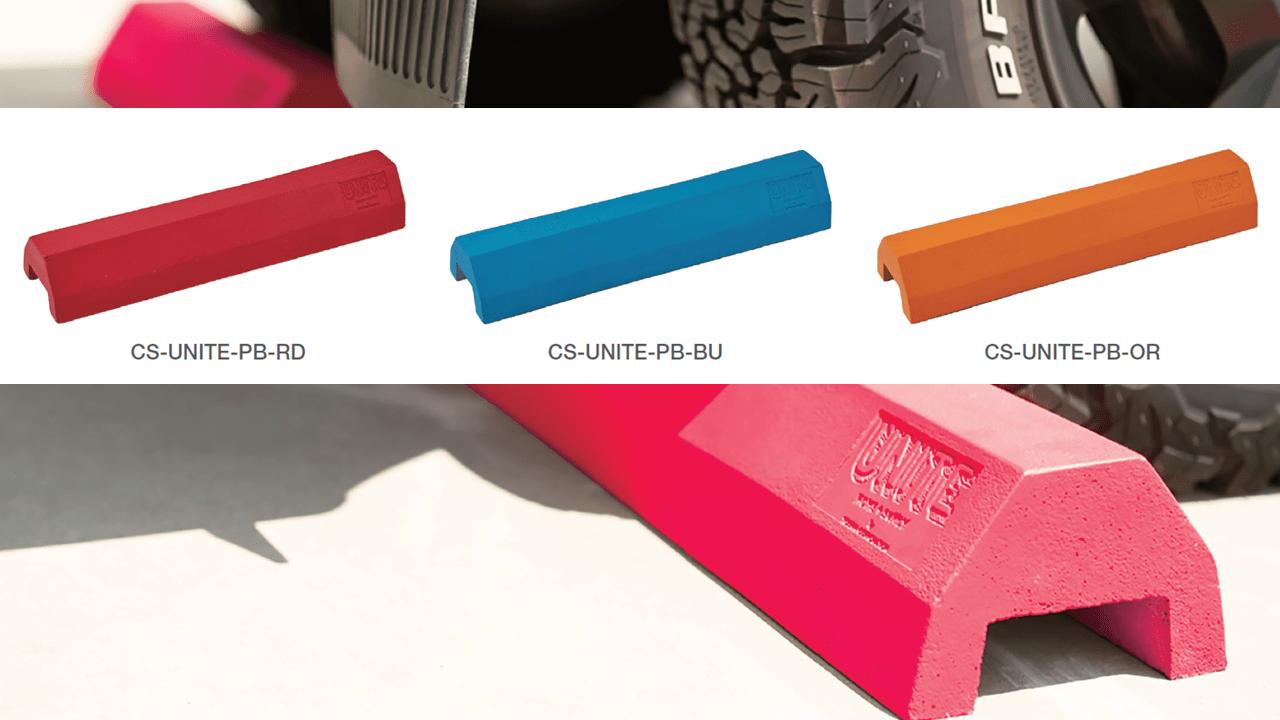パーキングブロックフレームの色は3色