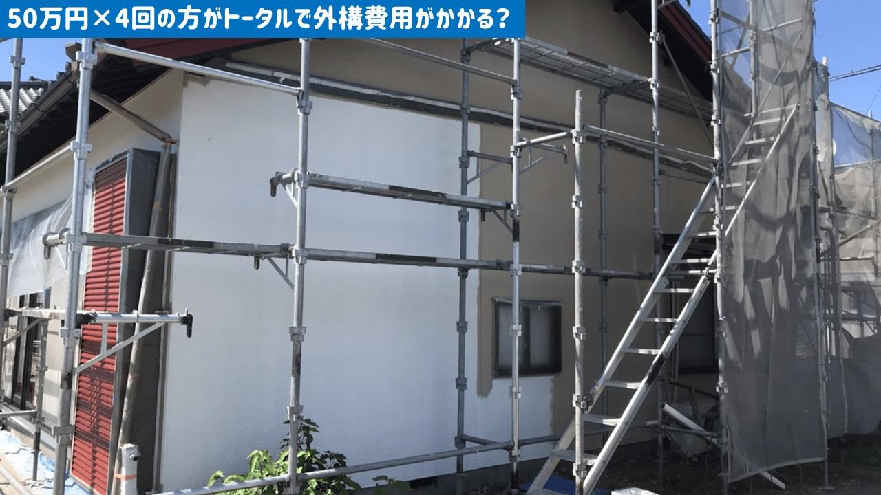 外構50万円×4回の方が高くつく?