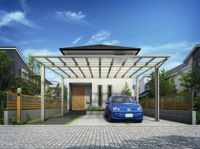 おすすめカーポート2:屋根がフラットなカーポート