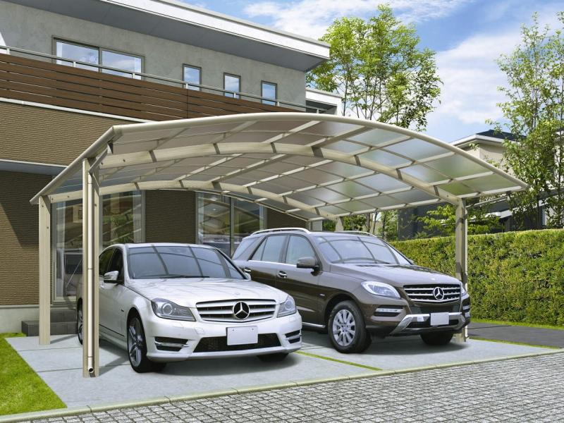 おすすめカーポート1:屋根がカーブしているタイプ