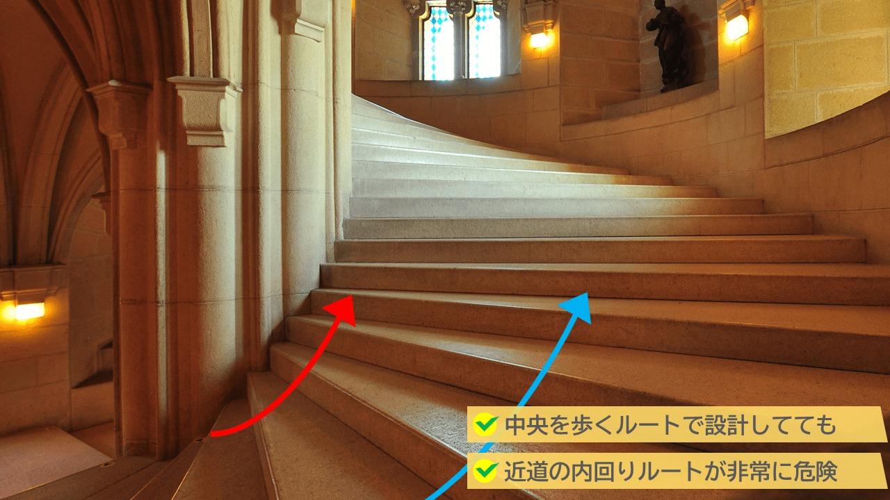 螺旋階段はNG