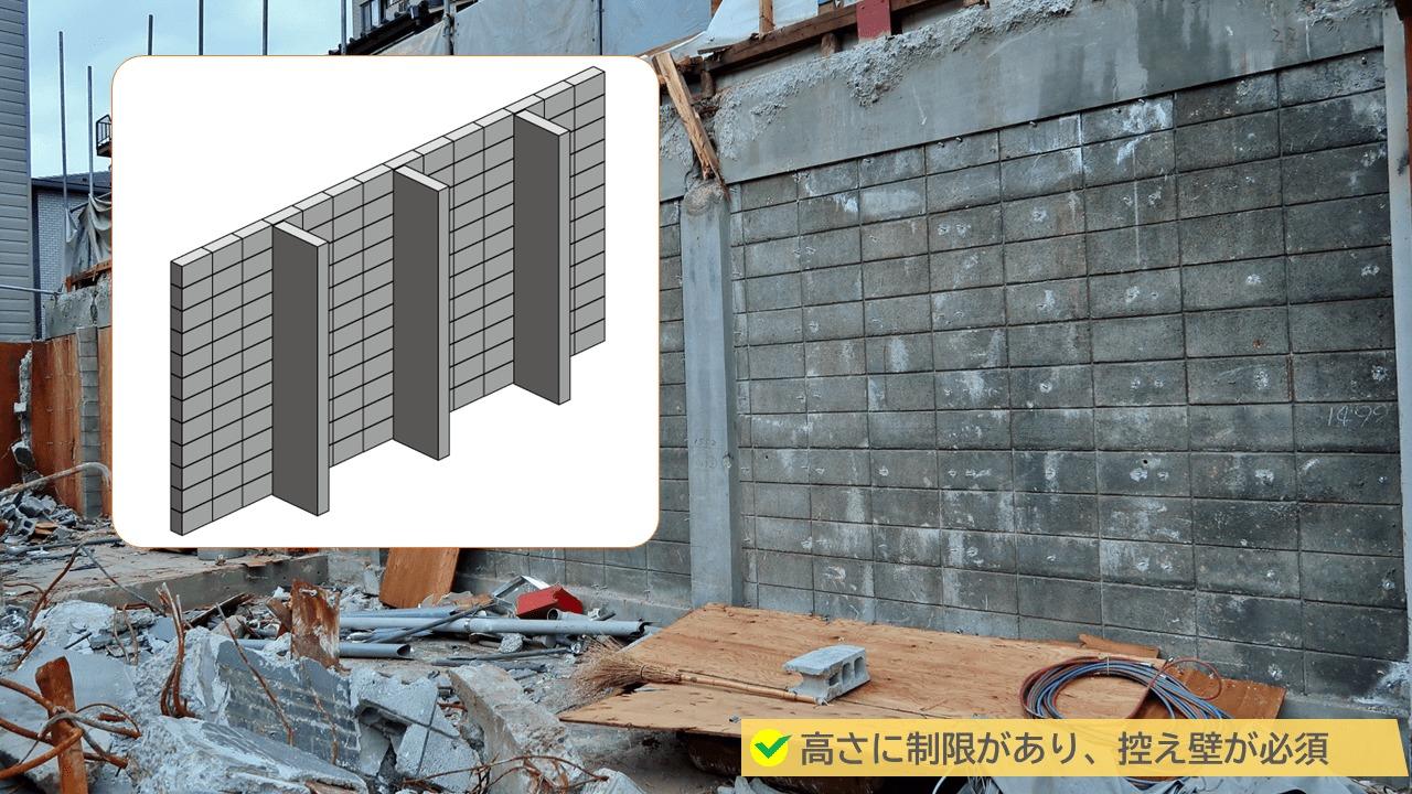ブロック塀の高さ制限もデメリット