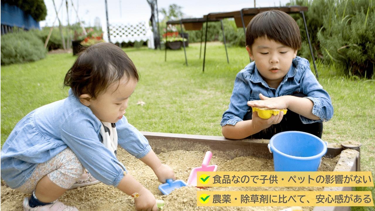 塩は食品なので子ども・ペットにも安全安心