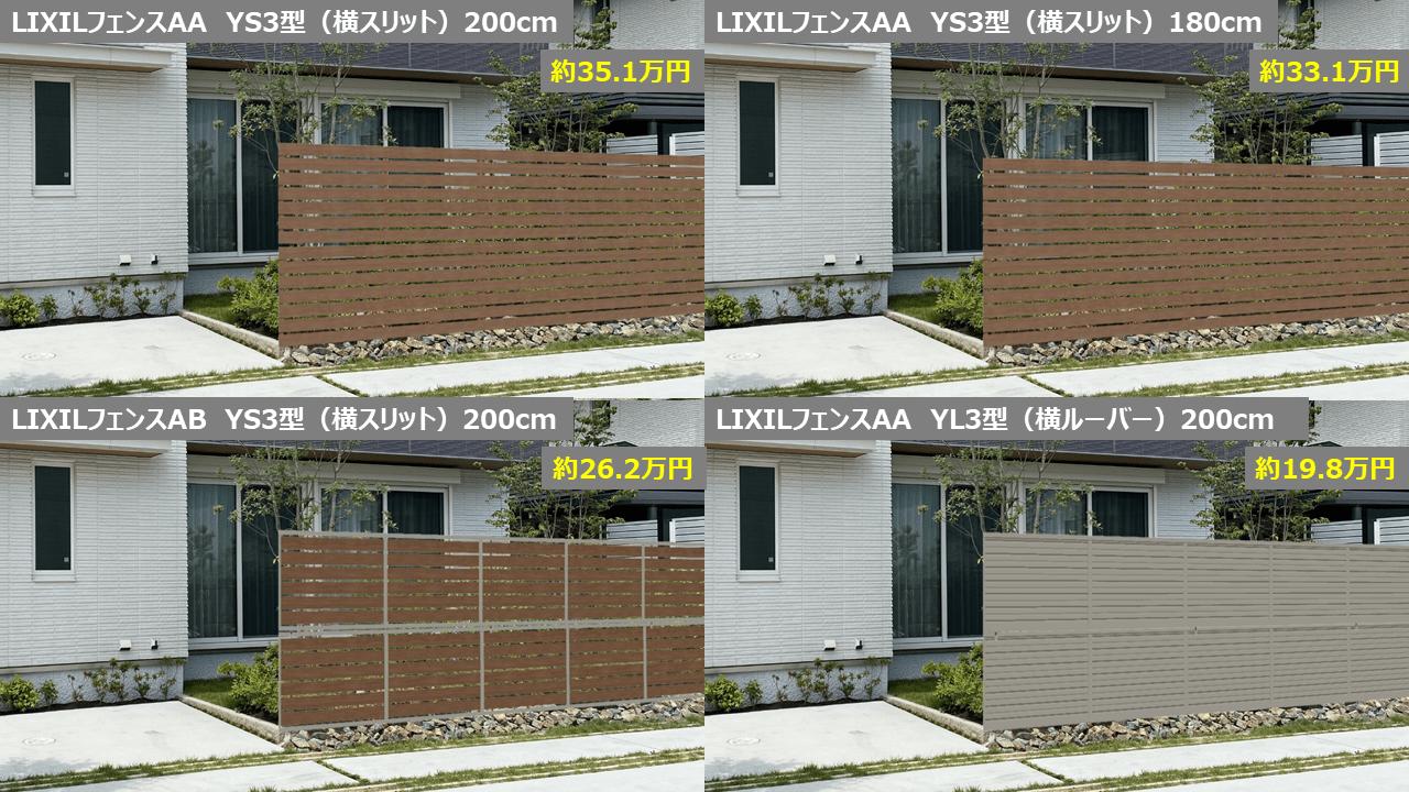 フェンスはデザインの選び方でもまた価格は変わる