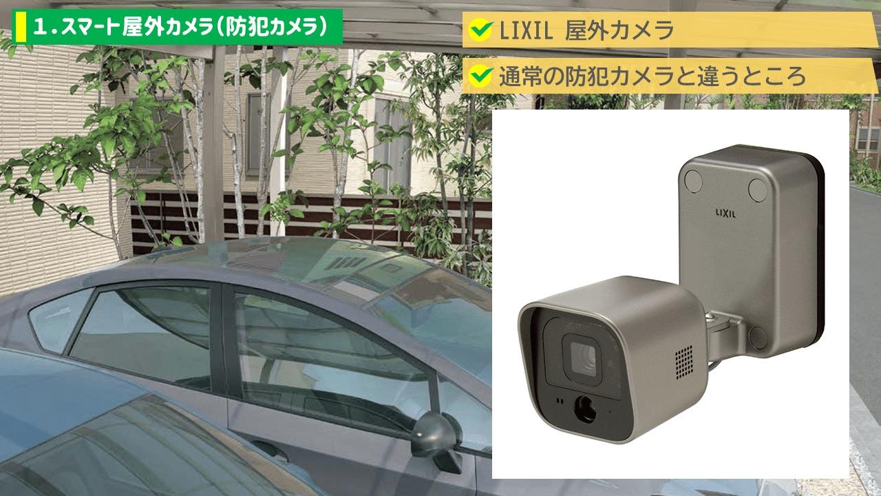 1.スマート屋外カメラ(防犯カメラ)