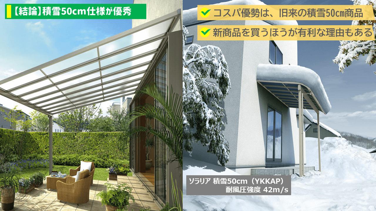 【結論】積雪50cm使用が優秀
