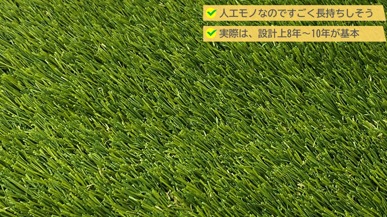 人工芝の寿命は「8~10年」が一般的