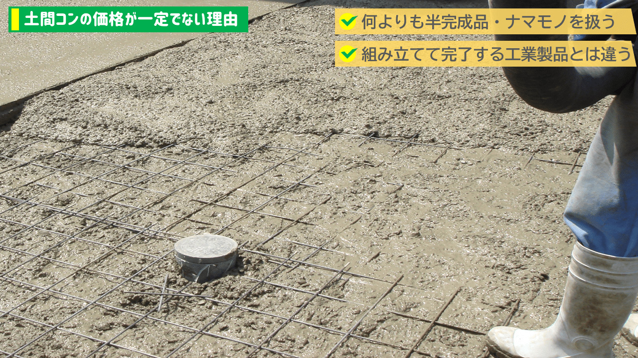 土間コンクリートが高い理由は面積と手間費
