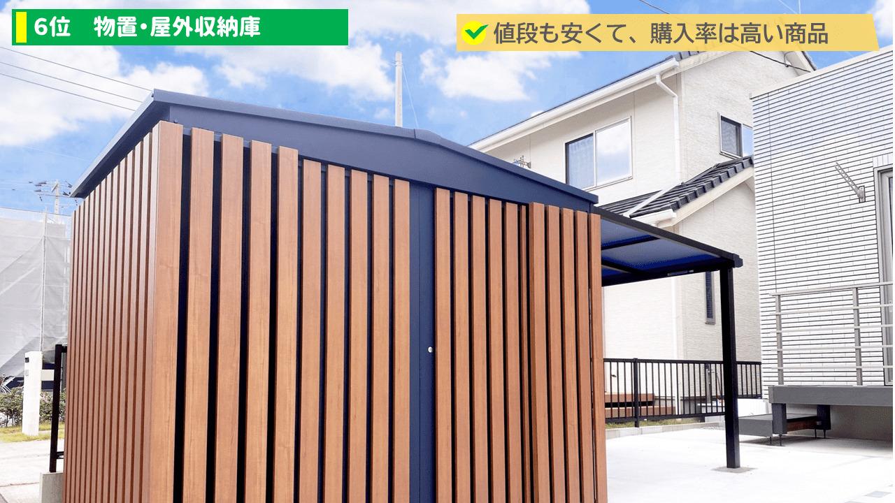 外構の流行りランキング6位:物置・屋外収納庫