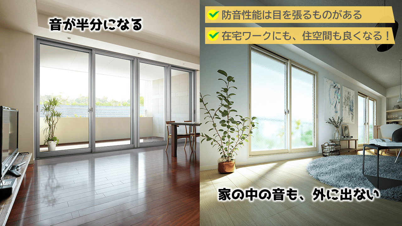 内窓は面倒さはありますが、1日に何回も開閉しない窓であれば、防音効果はかなりあります!