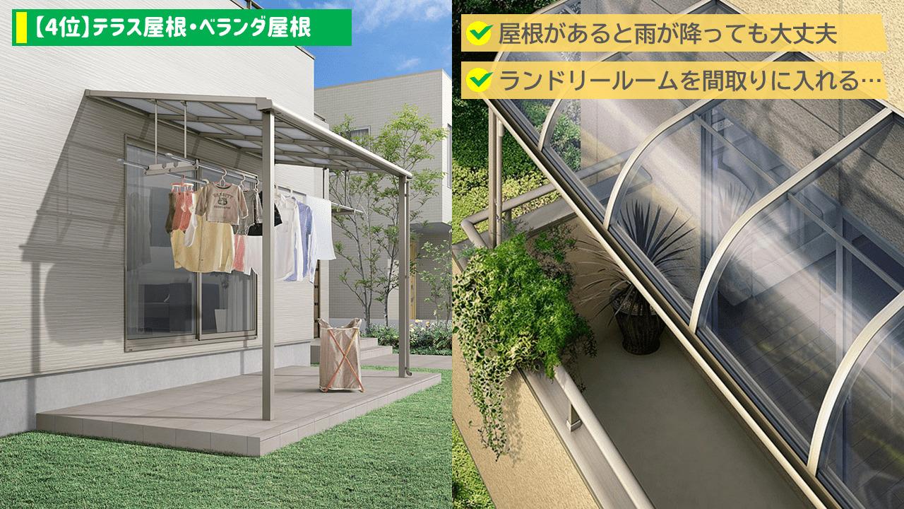 【4位】テラス屋根・バルコニー屋根