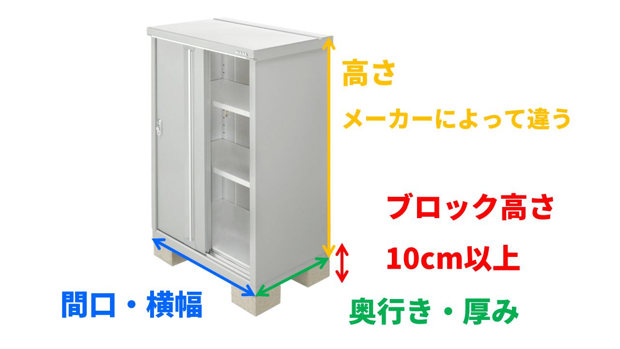物置は、カタログの寸法よりも、実際の寸法の方が大きいことから、サイズミスが起きます。