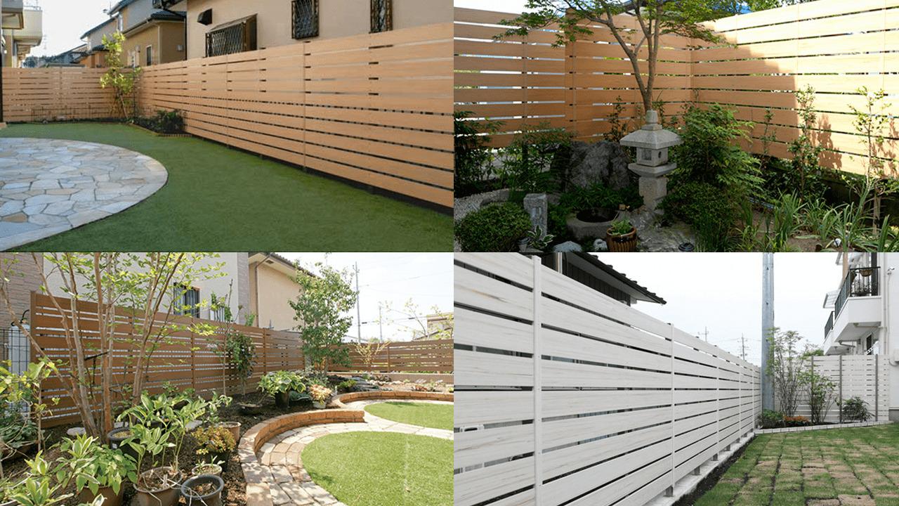 樹脂フェンスとはいえ、木目の温かみが特徴的です。
