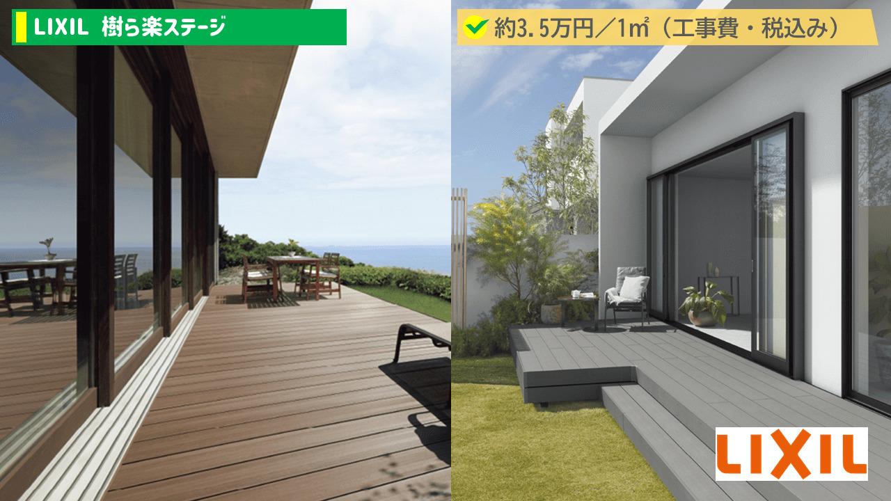 樹ら楽ステージの価格帯は、1平米あたり3.5万円(工事費・税込み)。