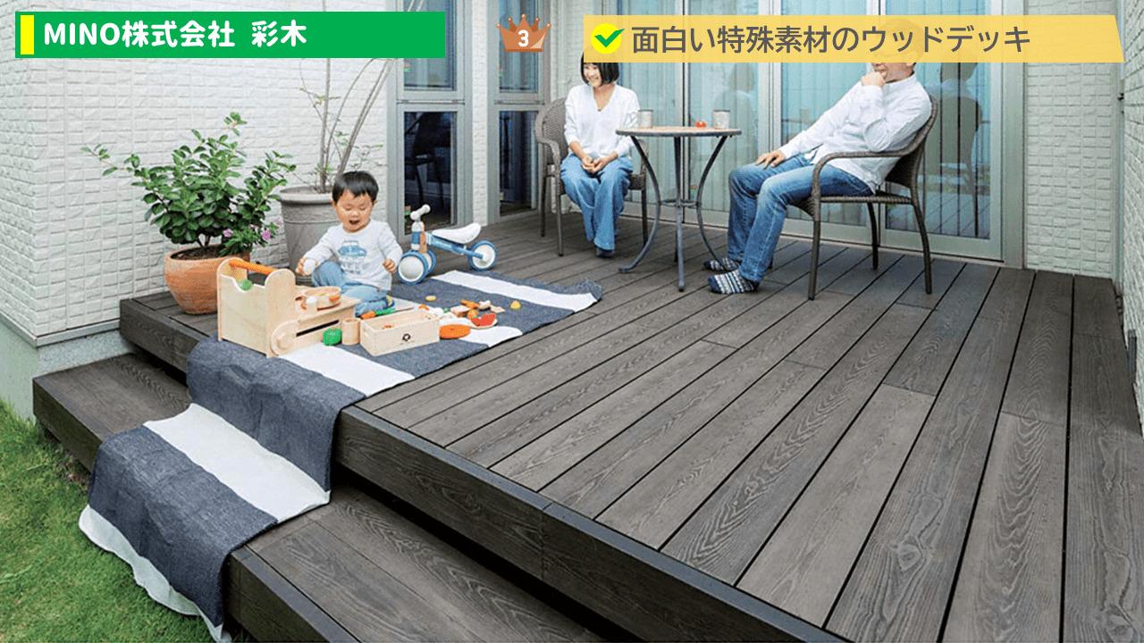 3位:MINO株式会社 彩木(あやぎ)