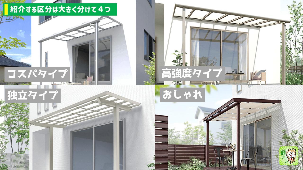 テラス屋根の定番モデル