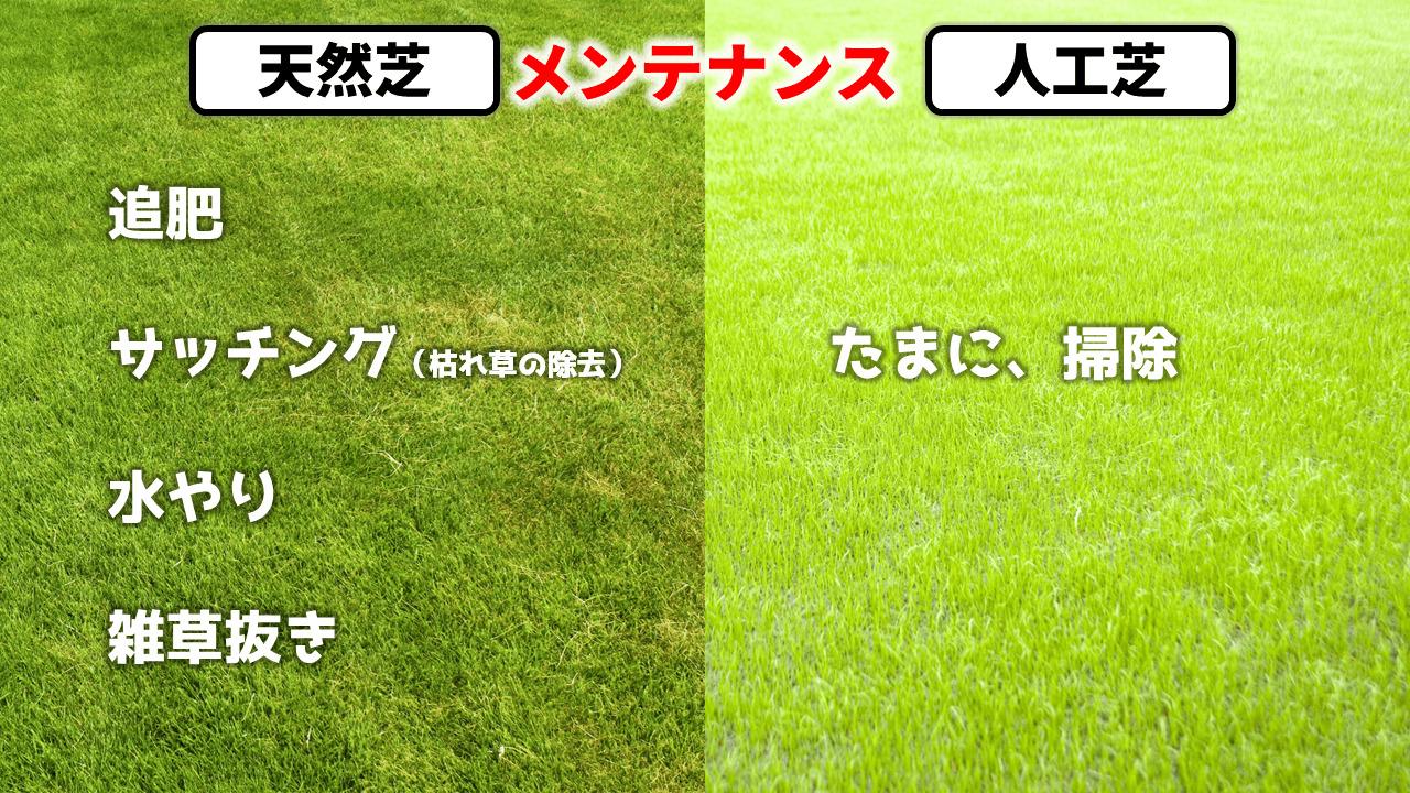 天然芝・人工芝のメンテナンス